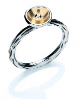 Goldsmith Hall - sterling silver and gold plated ring